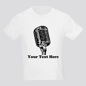 Microphone Personalized Kids Light T-Shirt