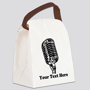 Microphone Personalized Canvas Lunch Bag