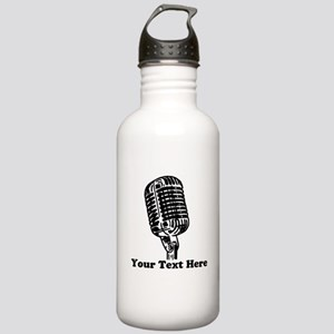 Microphone Personalize Stainless Water Bottle 1.0L