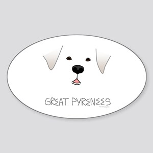 Great Pyrenees Face Sticker (Oval)