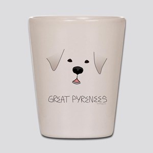 Great Pyrenees Face Shot Glass