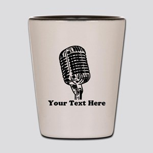 Microphone Personalized Shot Glass