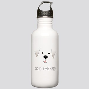 Great Pyrenees Face Stainless Water Bottle 1.0L