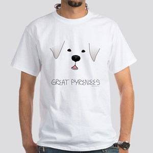 Great Pyrenees Face White T-Shirt