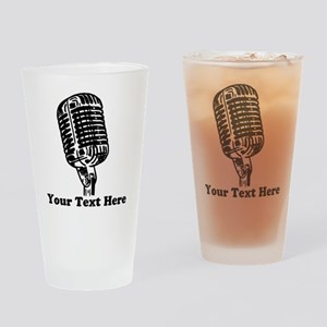 Microphone Personalized Drinking Glass