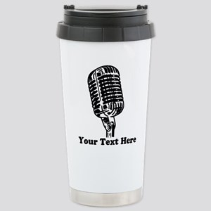 Microphone Person 16 oz Stainless Steel Travel Mug