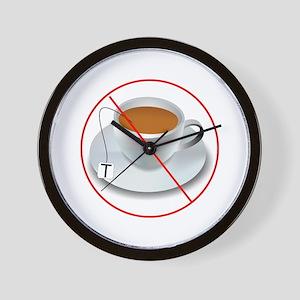 No Tea Party Wall Clock