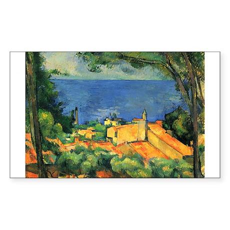 Cézanne Artzsake Sticker (Rectangle)