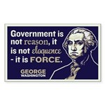 Washington On Government Sticker (Rectangle)