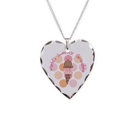 World's Sweetest Grandma Necklace Heart Charm