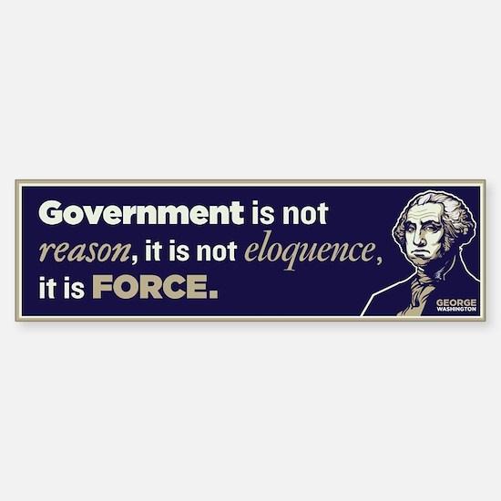 Washington On Government Sticker (Bumper)