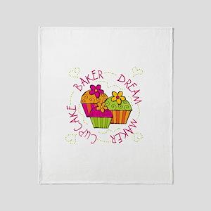 Cupcake Baker Dream Maker Throw Blanket