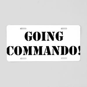 Going Commando Aluminum License Plate