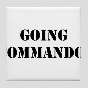 Going Commando Tile Coaster