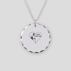 Cops Love Me Necklace Circle Charm