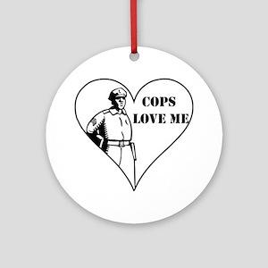 Cops Love Me Ornament (Round)