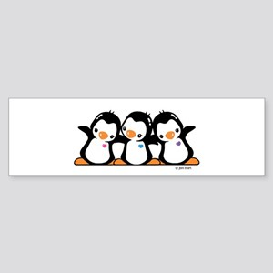 Penguins (together) Sticker (Bumper)