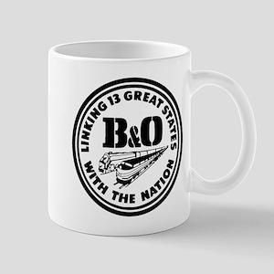B&O 13 states railway logo Mugs