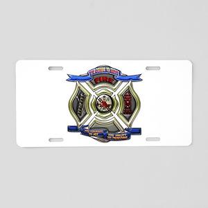 Fire Desire, Courage, Ability Aluminum License Pla