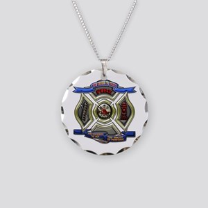 Fire Desire, Courage, Ability Necklace Circle Char