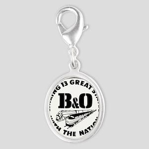 B&O 13 states railway logo Charms