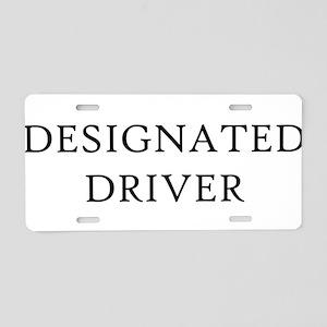 Designated Driver Aluminum License Plate