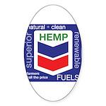Hemp Fuels Sticker (Oval 10 pk)