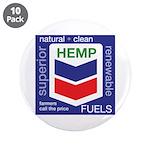 """Hemp Fuels 3.5"""" Button (10 pack)"""