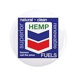 "Hemp Fuels 3.5"" Button"