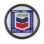 Hemp Fuels Large Wall Clock