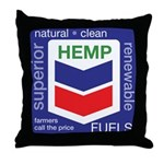 Hemp Fuels Throw Pillow