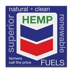 Hemp Fuels Tile Coaster