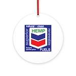 Hemp Fuels Ornament (Round)