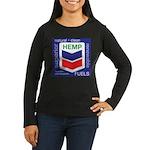 Hemp Fuels Women's Long Sleeve Dark T-Shirt