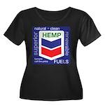 Hemp Fuels Women's Plus Size Scoop Neck Dark T-Shi