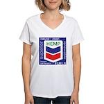 Hemp Fuels Women's V-Neck T-Shirt
