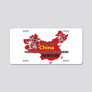 Red China Instructor Aluminum License Plate