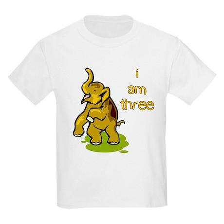 I Am Three Elephant Kids T-Shirt