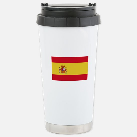 Spanish Flag Stainless Steel Travel Mug