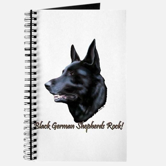 Black German Shepherds Rock Journal