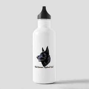 Black German Shepherds Rock Stainless Water Bottle
