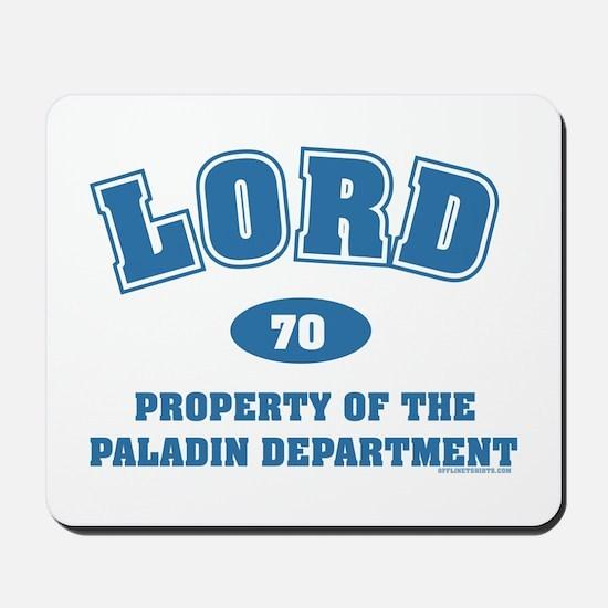 Lord Paladin Dept Mousepad