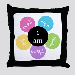 """i am..."" Throw Pillow"
