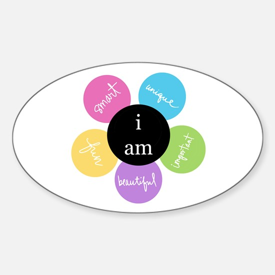 """i am..."" Oval Decal"