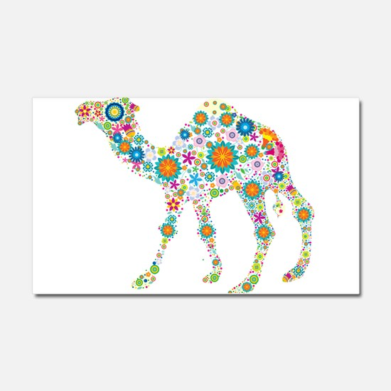Cool Colorful Retro Floral Came Car Magnet 20 x 12