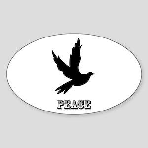 Peace and Love Dove Sticker