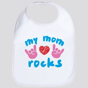 Mom_rocks2 Baby Bib