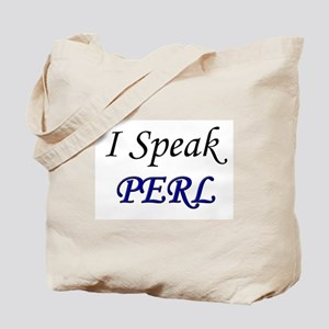 """I Speak PERL"" Tote Bag"