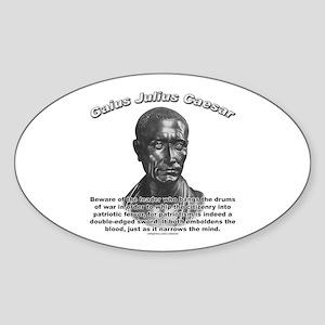 Julius Caesar 01 Oval Sticker