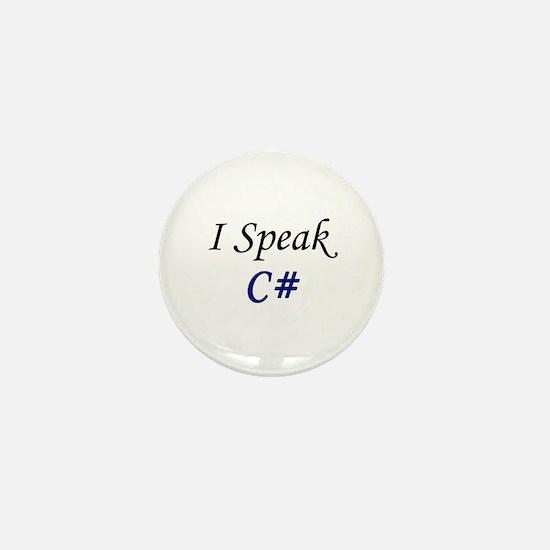 """""""I Speak C#"""" Mini Button"""